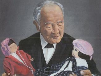 渋沢栄一と青い目の人形