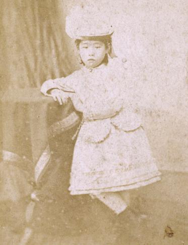 渡米直後、7歳頃にワシントンで撮影